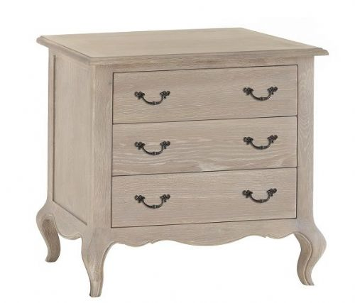 French Oak 3 Drawer Chest